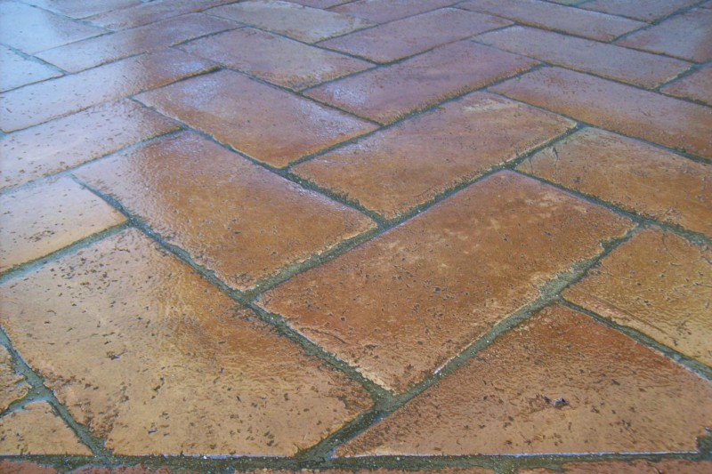 Comprar baldosas de barro venta baldosas de barro cocido fabricaci n artesanal suelos barro - Baldosas de hormigon para jardin ...